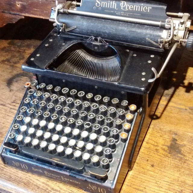 Gorgeous typewriter in the Gloucester Life Museum  wwwwanderingwordscouk wanderingwordshellip